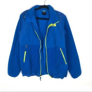 The North Face Denali Fleece Zip Up Hooded Jacket.